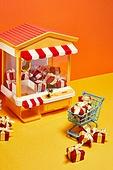 레트로스타일 (컨셉), 뉴트로, 20세기스타일 (스타일), 선물상자 (상자), 장난감, 쇼핑카트 (소매업장비)