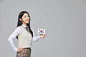 한국인, 투표 (선거), 선거권 (선거), 선거법, 공직선거법, 고등학생, 십대소녀 (여성), 십대 (나이), 교복, 투표용지, 학생, 태극기, 대한민국 (한국)