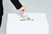 범죄 (사회이슈), 선거, 투표 (선거), 선거법, 공직선거법, 뇌물, 기부, 기부함, 기부 (움직이는활동)