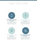 파워포인트, 서브페이지, 다이어그램, 비즈니스, 인포그래픽, 세로형