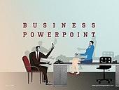 파워포인트, 메인페이지, 비즈니스, 직업 (역할), 콜라주 (이미지테크닉), 비즈니스맨, 비즈니스우먼, 미팅