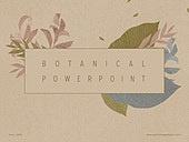 파워포인트, 메인페이지, 식물학 (주제), 얼씨톤 (색), 잎