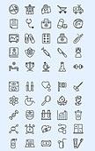 벡터 (일러스트), 아이콘, 아이콘세트 (아이콘), 라인아이콘, 병원, 의학, 의료, 한의원, 응급치료, 응급처치, 구급차, 의사, 간호사, 약