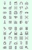 벡터 (일러스트), 아이콘, 아이콘세트 (아이콘), 라인아이콘, 멀티미디어, 디지털, 영상, 동영상, 영화, 게임, VR, 음악, 컴퓨터, 안테나, 전파