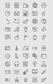벡터 (일러스트), 아이콘, 아이콘세트 (아이콘), 라인아이콘, 네트워크, 글로벌, 데이터, 서버, 저장, 클라우드
