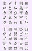 벡터 (일러스트), 아이콘, 아이콘세트 (아이콘), 라인아이콘, 파티, 행사, 축하, 이벤트, 세일, 놀이, 모임, 축하, 선물