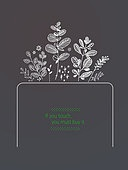 일러스트, 벡터 (일러스트), 봄, 프레임, 잎 (식물부분), 책표지, 패턴, 패키지, 라인, 북커버, 팝업