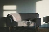 실내, 백그라운드, 햇빛 (빛효과), 뜨거움 (컨셉), 인테리어, 벽 (건물특징), 그림자, 소파