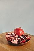 빔, 빛 (자연현상), 백그라운드, 햇빛, 사람없음, 인테리어, 석류, 과일, 다이어트, 테이블