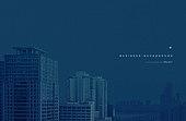 고층빌딩 (회사건물), 건물외관, 파랑 (색), 로우앵글