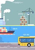 대기오염 (공해), 공해, 깨끗함 (좋은상태), 건강한생활 (주제), 공해 (환경오염), 환경오염, 크레인, 배 (교통), 매연