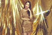 고급, 금색 (색), 컬러, 드레스, 미녀, 패셔너블