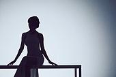 실루엣, 여성, 드레스