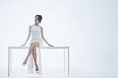 흰색 (색), 드레스, 미녀, 휴식, 상상력 (컨셉)
