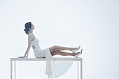 흰색 (색), 드레스, 미녀, 휴식