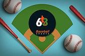 그래픽이미지, 편집디자인, 탑앵글 (카메라앵글), 오브젝트 (묘사), 프레임, 스포츠, 구기 (스포츠), 야구, 야구공