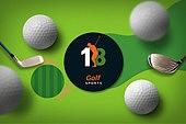 그래픽이미지, 편집디자인, 탑앵글 (카메라앵글), 오브젝트 (묘사), 프레임, 스포츠, 구기 (스포츠), 골프