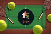 그래픽이미지, 편집디자인, 탑앵글 (카메라앵글), 오브젝트 (묘사), 프레임, 스포츠, 구기 (스포츠), 테니스 (라켓스포츠)