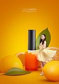 그래픽이미지, 잡지, 화장품 (몸단장제품), 여성, 드레스, 이벤트페이지, 팝업, 레몬, 매니큐어 (화장품)