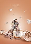그래픽이미지, 잡지, 화장품 (몸단장제품), 여성, 드레스, 이벤트페이지, 팝업, 향수, 다이아몬드 (원석)
