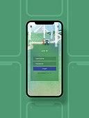 템플릿 (이미지), 백그라운드, 모바일템플릿 (웹모바일), 로그인, 가입, 회원가입, 녹색 (색)