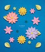 종이 (재료), 페이퍼아트, 봄, 꽃, 잎