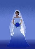 결혼, 우울 (슬픔), 메리지블루, 웨딩드레스 (드레스), 여성 (성별), 신부 (결혼식역할)