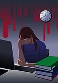 과로, 직업 (역할), 스트레스, 화이트칼라 (전문직)