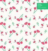 패턴, 벡터 (일러스트), 꽃, 계절, 카네이션