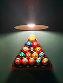 당구, 포켓볼, 조명 (발광), 램프 (전등빛), 장식품 (인조물건)