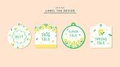 태그,라벨,드로잉,봄,꽃