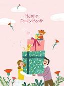 연례행사 (사건), 5월, 가정의달, 가족, 어버이날 (홀리데이), 선물 (인조물건), 선물상자