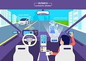 기술 (과학과기술), 4차산업혁명 (산업혁명), 무인자동차 (자동차), 비즈니스, 홀로그램