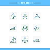 아이콘, 아이콘세트 (아이콘), 선 (인조물건), 비즈니스, 기술 (과학과기술), 4차산업혁명 (산업혁명), 첨단기술 (기술), 무인자동차 (자동차), 인공위성