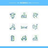아이콘, 아이콘세트 (아이콘), 선 (인조물건), 비즈니스, 기술 (과학과기술), 4차산업혁명 (산업혁명), 첨단기술 (기술)