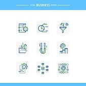 아이콘, 아이콘세트 (아이콘), 선 (인조물건), 비즈니스, 기술 (과학과기술), 4차산업혁명 (산업혁명), 첨단기술 (기술), 태엽, 클라우드컴퓨팅 (인터넷)