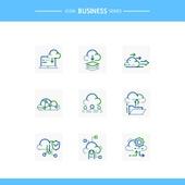 아이콘, 아이콘세트 (아이콘), 선 (인조물건), 비즈니스, 기술 (과학과기술), 4차산업혁명 (산업혁명), 첨단기술 (기술), 클라우드컴퓨팅 (인터넷), 업로드
