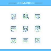아이콘, 아이콘세트 (아이콘), 선 (인조물건), 교육 (주제)