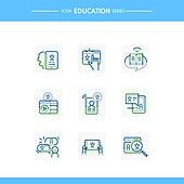 아이콘, 아이콘세트 (아이콘), 선 (인조물건), 교육 (주제), 문자 (문자기호), 한자 (문자)