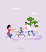 사람, 가족, 라이프스타일, 라이프스타일 (주제), 함께함 (컨셉), 나무, 자전거, 어린이 (나이), 부부, 커플, 소풍 (아웃도어)