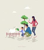 사람, 가족, 라이프스타일, 라이프스타일 (주제), 함께함 (컨셉), 소풍 (아웃도어), 농장, 새끼염소 (새끼)