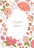 꽃, 봄, 프레임, 식물, 잎