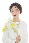 의료성형뷰티, 한국인, 얼굴 (사람머리), 클로즈업, 아름다움, 미녀, 사람피부, 꽃, 프레시, 순수, 색조화장, 깨끗함
