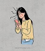 상업이벤트 (사건), 스마트폰, 감정, 사람, 청년 (성인), 쇼핑 (상업활동), 여성 (성별), 대학생