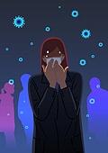 스트레스, 고통, 감정, 바이러스, 코로나바이러스, 코로나19 (코로나바이러스)