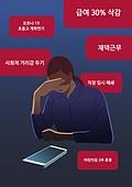 스트레스, 고통, 감정, 바이러스, 코로나바이러스, 코로나19 (코로나바이러스), 말풍선, 고외, 스마트폰