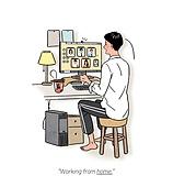 일 (물리적활동), 화이트칼라 (전문직), 비즈니스, 재택근무, 라이프스타일, 화상통화
