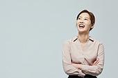 여성, 비즈니스우먼, 미소, 밝은표정