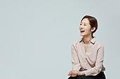 여성, 비즈니스우먼, 미소, 설명, 대화