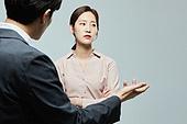 남성, 여성, 대화, 비즈니스, 불만 (컨셉), 커뮤니케이션문제, 화 (컨셉)